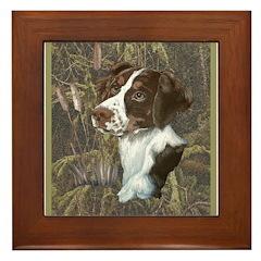 Brittany Spaniel Framed Tile