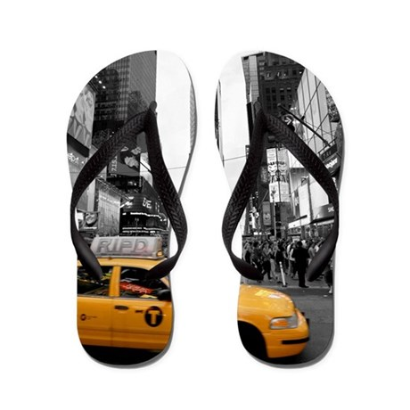 Times Square New York City - Pro photo Flip Flops