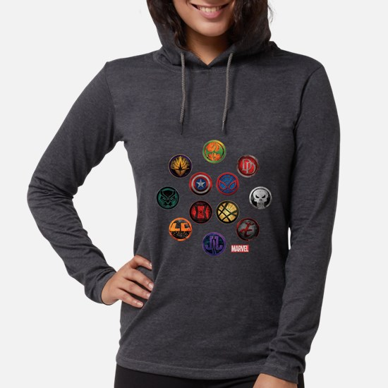Marvel Grunge Icons Womens Hooded Shirt