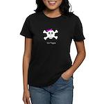Skull Grrrl - Go Vegan - Women's Dark T-Shirt