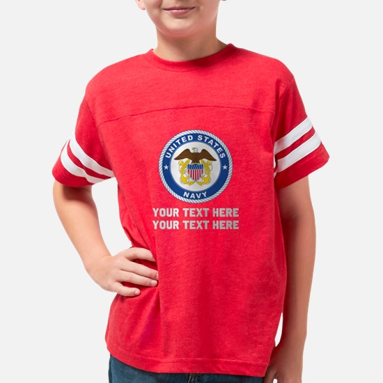 US Navy Emblem Customized Youth Football Shirt