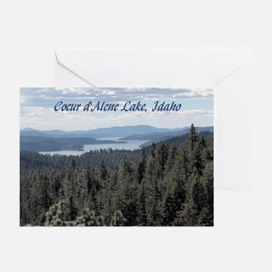 Coeur d'Alene Lake Greeting Cards (Pk of 10)