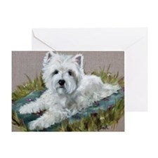 Blanket in the Grass Greeting Card
