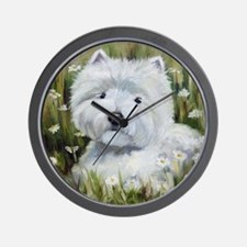 Amongst Daisies Wall Clock