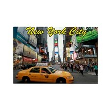 Iconic! Times Square Ne Rectangle Magnet (10 pack)