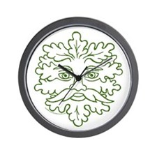 Weathered GreenMan Wall Clock