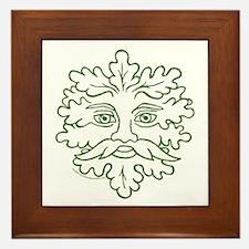 Weathered GreenMan Framed Tile