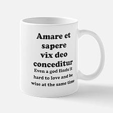 Amare et sapere vix deo conceditur Small Mug