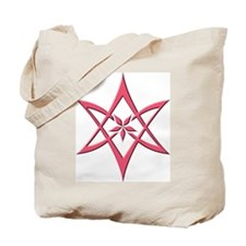Rose Curved Unicursal Hexagram Tote Bag