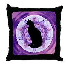 Kaleidoscope Cat Throw Pillow