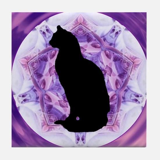 Kaleidoscope Cat Tile Coaster