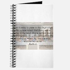 Ruth 1:1 Journal