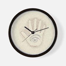 Earthtone Petro EyeHand Wall Clock