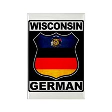 Wisconsin German American Rectangle Magnet