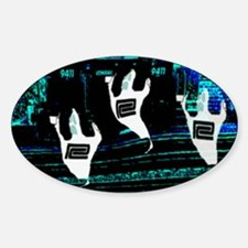 Ghosts of railroads Past ! Oval Decal