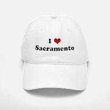 I Love Sacramento Baseball Baseball Cap
