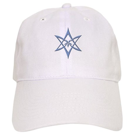 Blue Curved Unicursal Hexagram Cap