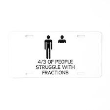 Math Humor Aluminum License Plate