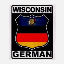 Wisconsin German American Throw Blanket