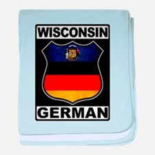 Wisconsin German American baby blanket