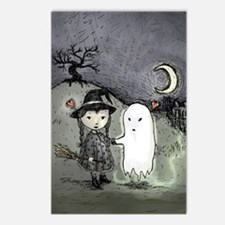 Witch Loves Ghost Postcards (Package of 8)