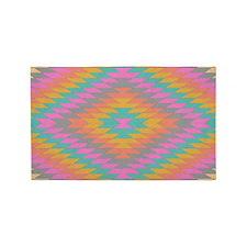 3'x5' Area Rug Ancient Rainbow