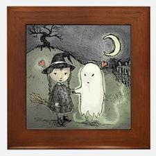 Witch Loves Ghost Framed Tile
