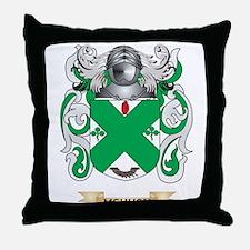 McHugh Coat of Arms - Family Crest Throw Pillow
