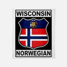 Wisconsin Norwegian American Throw Blanket