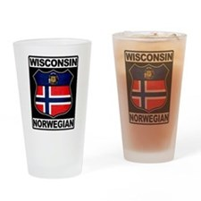 Wisconsin Norwegian American Drinking Glass