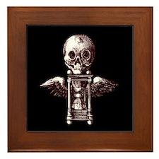 Fugit Hora/black Framed Tile