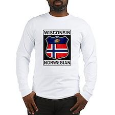 Wisconsin Norwegian American Long Sleeve T-Shirt