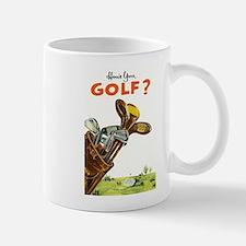 Golf Bag, Retro, Vintage Poster Mug
