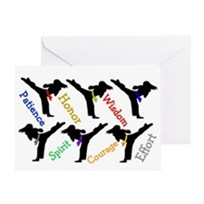 Martial Arts Womens Card Greeting Cards