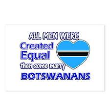 botswanan wife designs Postcards (Package of 8)