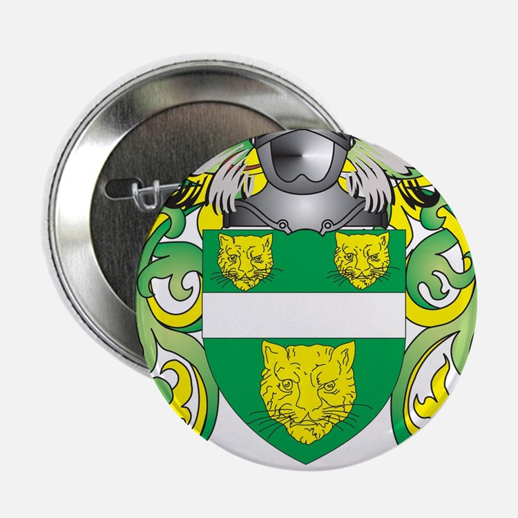"""McKenna Coat of Arms - Family Crest 2.25"""" Button"""