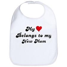 My Heart: New Mom Bib