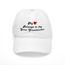 My Heart: Great Grandmother Baseball Cap