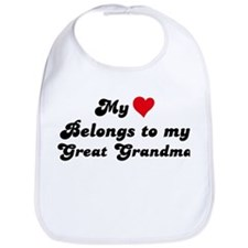 My Heart: Great Grandma Bib
