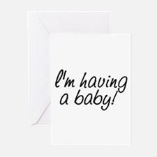 I'm having a baby! Greeting Cards (Pk of 10)