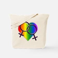 Gay Pride Rainbow Lesbian Love Tote Bag
