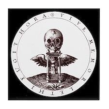 Vive Memor/black Tile Coaster