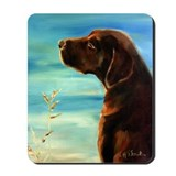 Chocolate lab Mouse Pads