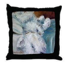 Bed Hog Throw Pillow