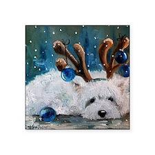"""Blue Christmas Square Sticker 3"""" x 3"""""""