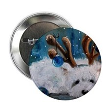 "Blue Christmas 2.25"" Button"