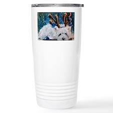 Blue Christmas Travel Mug