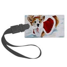 White Christmas Luggage Tag