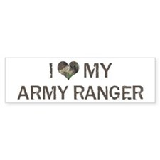 Army Ranger: Love - Vintage Bumper Car Sticker