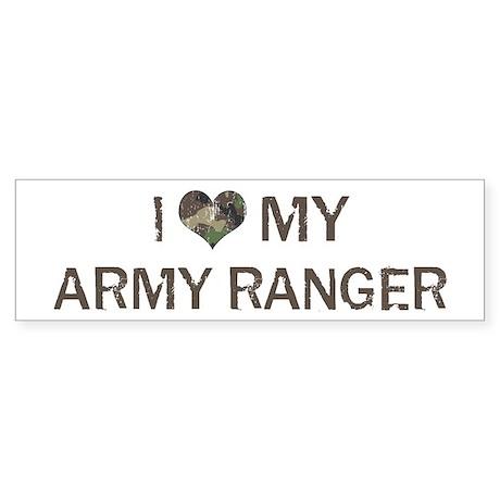 Army Ranger: Love - Vintage Bumper Sticker